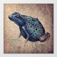frog Canvas Prints featuring Frog by Werk of Art