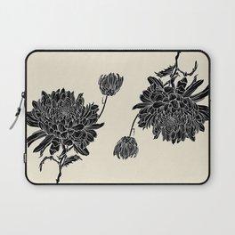 Black Chrysanthemum Laptop Sleeve