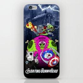 Floating BunnyHead + Avengers iPhone Skin