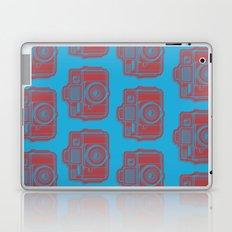 I Still Shoot Film Holga Logo - Blue & Red Laptop & iPad Skin