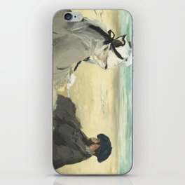 On the Beach - Edouard Manet iPhone Skin