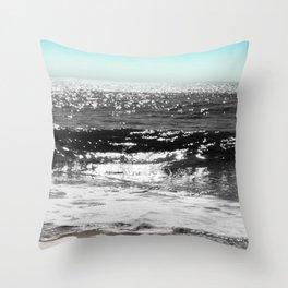 Cascading Waves Throw Pillow