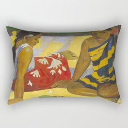 Parau Api / What's news? by Paul Gauguin Rectangular Pillow