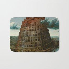 The Tower of Babel by Pieter Bruegel the Elder Bath Mat