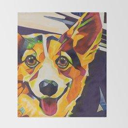 Pop Art Corgi Throw Blanket
