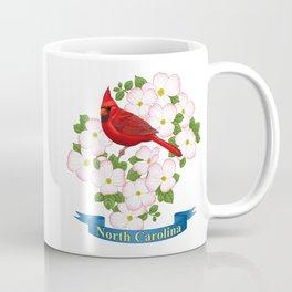 North Carolina State Bird and Flower Coffee Mug