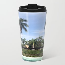 palm trees on a summer afternoon Metal Travel Mug
