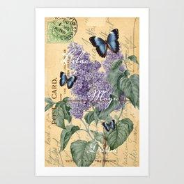 Lilac Magic Butterfly Art Print