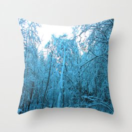 Snow and Shapes Throw Pillow