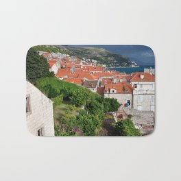Red Tiled Houses In Dubrovnik Old Town Bath Mat