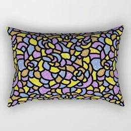 Mosaic Tiles Random Shaped Rectangular Pillow