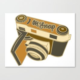 """Oh, Snap"" Camera Illustration Canvas Print"