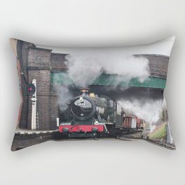 Vintage Steam Railway Train at the Station Rectangular Pillow