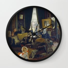James Tissot - Hide And Seek Wall Clock