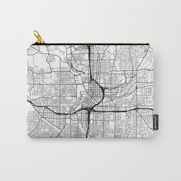 Atlanta Map, USA - Black and White Carry-All Pouch