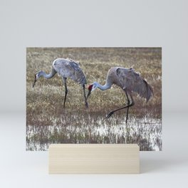 Working in Pairs Mini Art Print