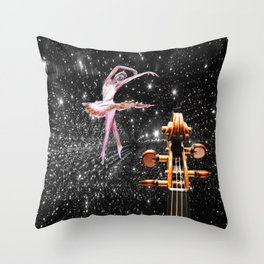 Violin and Ballet Dancer number 1 Throw Pillow