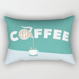 Coffee Pot Head Rectangular Pillow