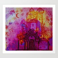 russia Art Prints featuring Russia  by Kaxton