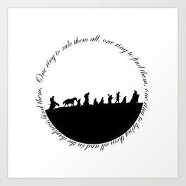 Ring of power Art Print