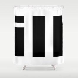 simple is ill BL Shower Curtain