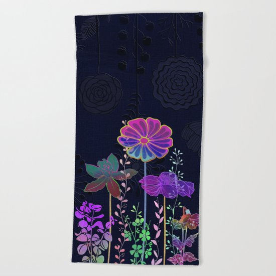 Flower Tales 3 Beach Towel