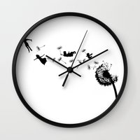 neverland Wall Clocks featuring Neverland by artbylaquann