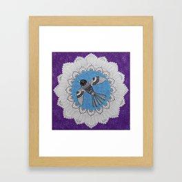 Beautiful Bird Mandala Framed Art Print