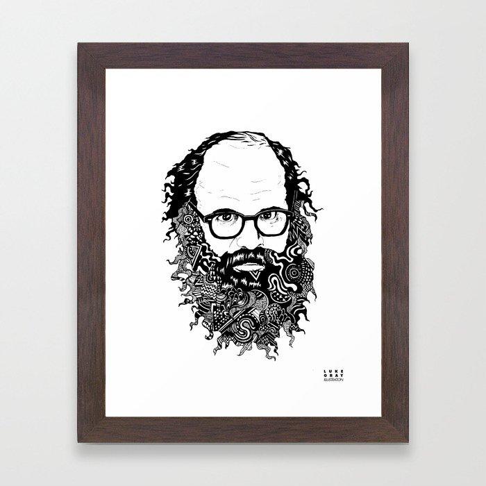 Allen Ginsberg Framed Art Print