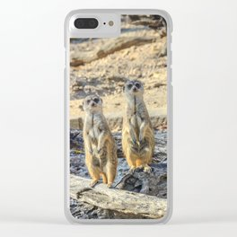 A couple of meerkats Clear iPhone Case