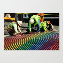 Laying It On The Line Canvas Print