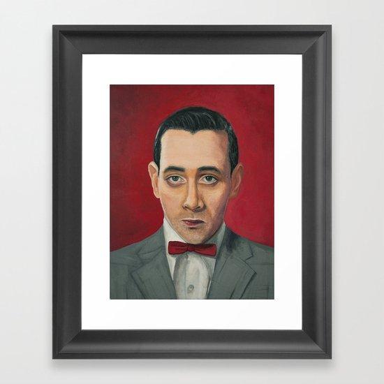 Pee-Wee Herman, A portrait Framed Art Print