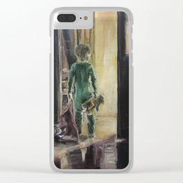 Waiting for a miracle Original oil painting on canvas Impressionism Artwork Clear iPhone Case