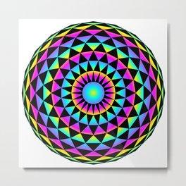 20gon Rainbow Gradient Triangles Metal Print