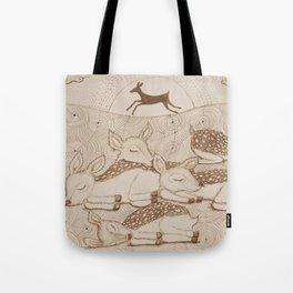 gazelles at night Tote Bag