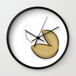 Fortune Cookie - All We Have is Now Wall Clock