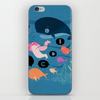 swimming iPhone & iPod Skins featuring Swimming by Sugar Snap Studio