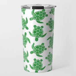 Sea Turtle in Green Travel Mug