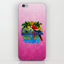 Pink Island Time Sunset iPhone Skin