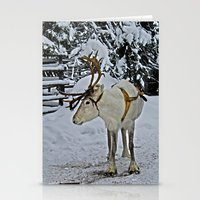 finland Stationery Cards featuring Reindeer in Lapland Finland by Guna Andersone & Mario Raats - G&M Studi