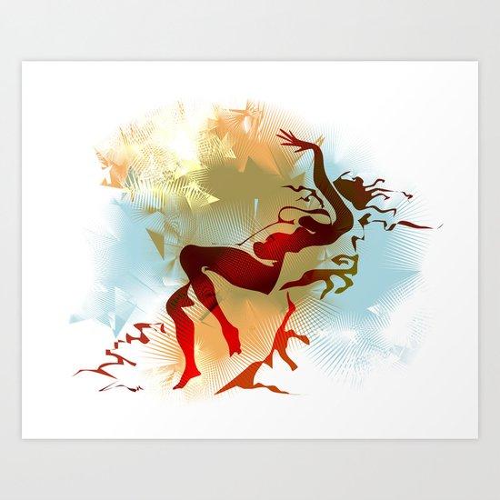 Leda Art Print