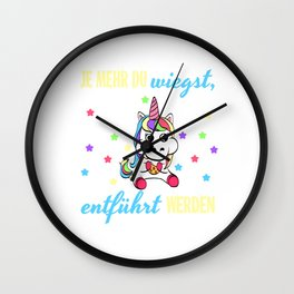 Perfect German Gift Tee With An Illustration Of A Unicorn T-shirt Design Magical Mythical Colorful  Wall Clock