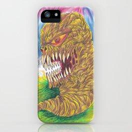 Demon Maggot Color Art Illustration iPhone Case