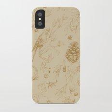 Nature pattern iPhone X Slim Case
