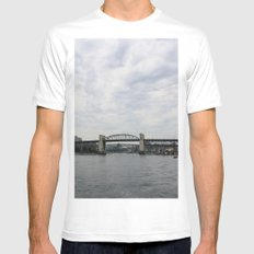 False Creek MEDIUM Mens Fitted Tee White