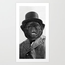 Sir Winston Pug Churchill Art Print