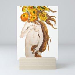birth of Venus and sunflower Mini Art Print