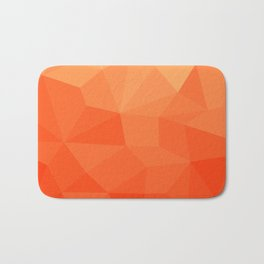 Abstract Geometric Gradient Pattern between Pure Red and very light Orange Bath Mat