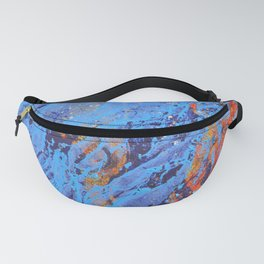 American Dream Abstract Art Red Gold And Blue Fanny Pack