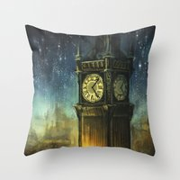 city Throw Pillows featuring Something for the Nerves by Alice X. Zhang